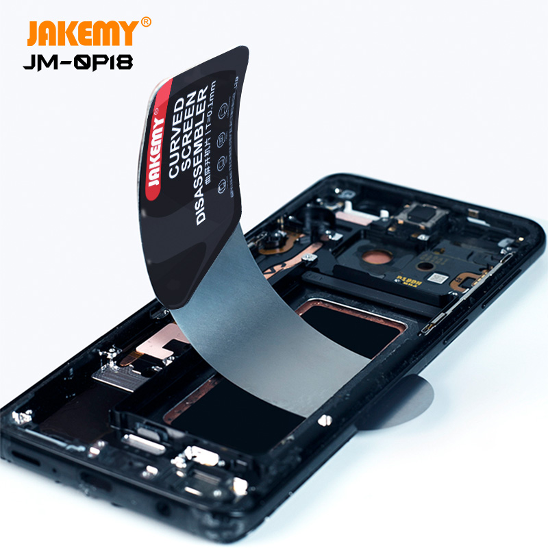 JAKEMY OP18 Original Stainless Steel Curved Screen Disassemble Blade 0.1 Mm Safe Disassembly Tool For Curved Screen Mobile Phone