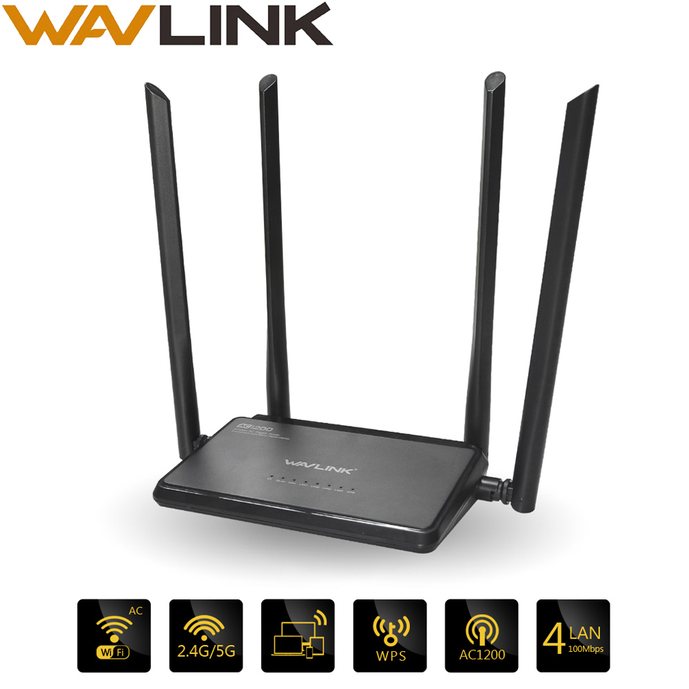 Wavlink Router Wifi-Amplifier Range-Extender External-Antennas Dual-Band 1200mbs WI-FI