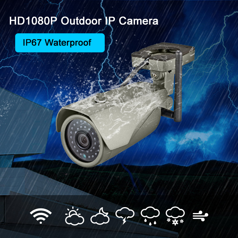 KERUI Full HD 1080P WIFI Wasserdichte Bullet IP Kamera P2P Echtzeit Vision Home Security Wireless Outdoor Überwachungskamera