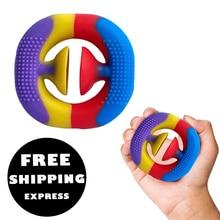 2021 RU TIK TOK Popular Children Stress Relax Rubber Snapperz Rainbow Fidget Toy Grab Snap Squeeze Popper Finger Relief Plastic