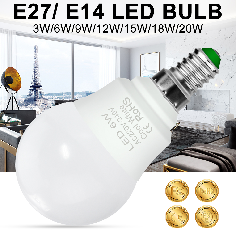 E27 Led 220V Bulb Led Lamp E14 Spot Light 3W 6W 9W 12W 15W 18W 20W Lampada LED Bulb 240V Spotlight Table Lamp Cold/Warm White
