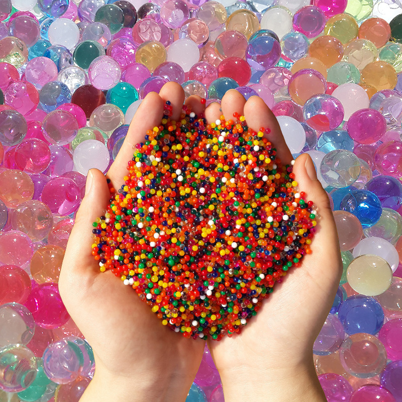 100/500PCS Crystal Soil Water Beads Mud Hydrogel Gel Polymer Water Beads Flower Plants Water Balls  Kids Children Toy