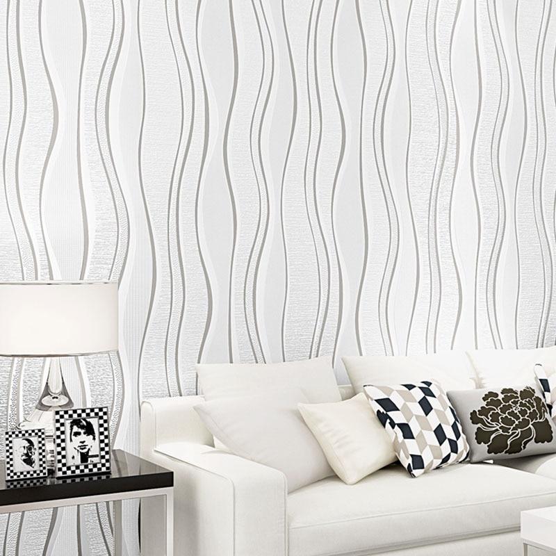 Hotel Theme Room Nonwoven Fabric Engineering Wallpaper Living Room Bedroom TV Background Modern Minimalist Stripes Wallpaper