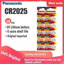 10 adet orijinal PANASONIC cr2025 düğme pil dijital kamera için kamera izle hesaplama ağırlık ölçeği 3V lityum hücre