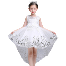girl  summer dress white princess 3 14 years girl party dress robe fille  kids brand vestidos prom dresses