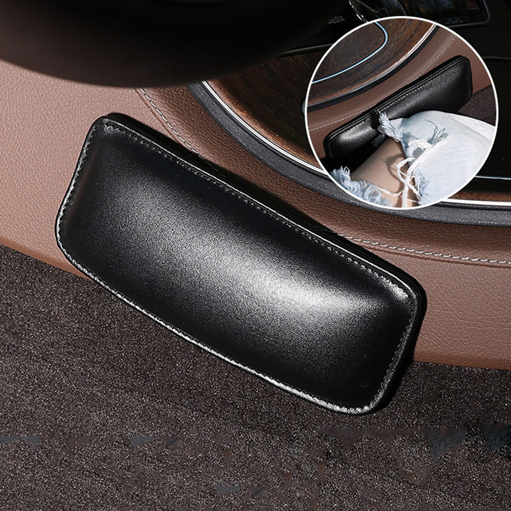 Car Cushion Interior Pillow Knee Pad Car Seat Soft Cushion Leather Universal Thigh Pillow Support Accessories