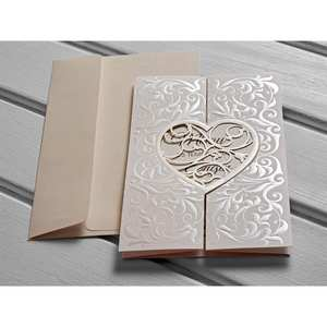 Invitations-Cards Gift Wedding Laser-Cut Bridal Shower 50pcs Kod:10525 Elegant Luxury