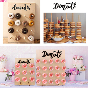 Image 2 - Soporte de pared de Donut para decoración de cumpleaños, suministros de fiesta de donuts, mesa de Decoración de cumpleaños, evento de boda para Baby shower
