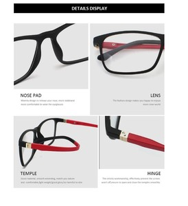 Image 5 - ZENOTTIC 2 in 1Polarized Sunglasses Magnetic Clip On Optical Glasses For Men Bendable Square Spectacl Clip On Shade Eyeglasses