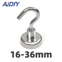 AI DIY 1/3/10Pcs D16 Magnetic Hooks Strong Mini Heavy Duty Hanger Durable For Home Kitchen Refrigerator Office Neodymium Magnet