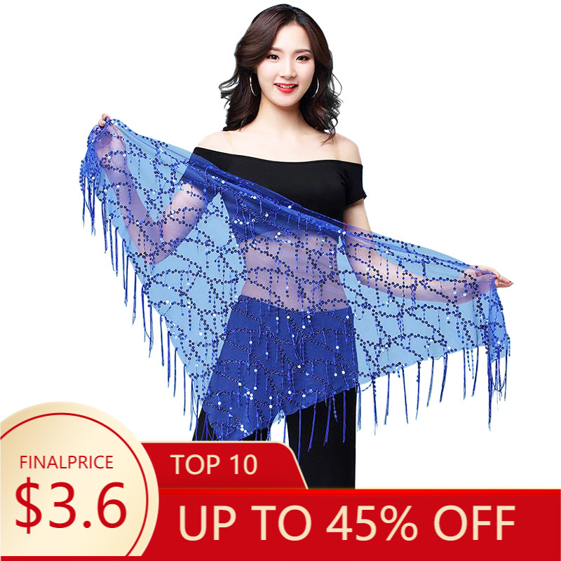 Hip-Scarf Belly-Dance-Costumes Tassel Indian Women Sequins for 11kinds-Of-Colors New-Style