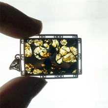 Genuine Natural Gibeão Meteorito de Ferro Mulheres Homens Colar Moldavita 38x25mm Jóias de Prata Folha Pedra Preciosa Esculpida Pingente AAAAA