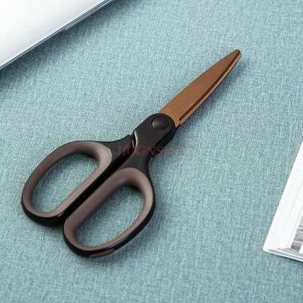 Household Scissors Titanium Scissors Wear-resistant Alloy Office Art Scissors Tipless Round Head Portable Scissors