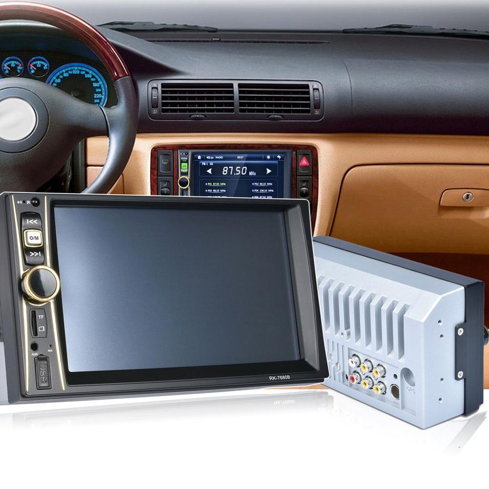 Car Radio Player Stereo MP5 Car Audio USB Aux TF In-Dash FM Auto Radio With Rear View Camera Remote Control