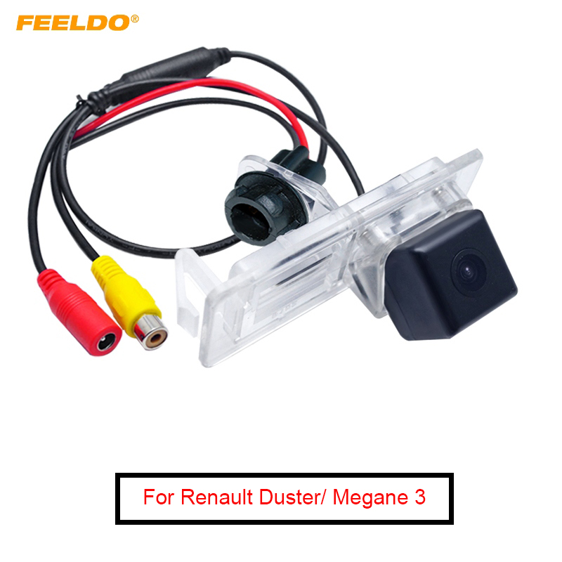 FEELDO Promotion Sale !! Car Backup Rear View Camera For Renault Fluence (09-15)/Dacia Duster(10-16)/Megane 3/Terrano(10~14)
