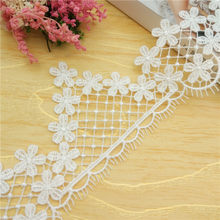 7/20yards Black White Water Soluble Lace Trim Lace Ribbon Lace Fabric DIY Dress Wedding Curtain Skirt Decoration Accessories