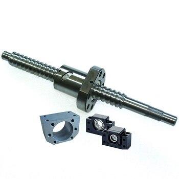 SFU1605 400mm Ballscrew Kit + Set BK/BF12 Kit + 1605 Ballscrew RM1605 L400mm Ball Screw with Ball Nuts + Screw Nut Housing