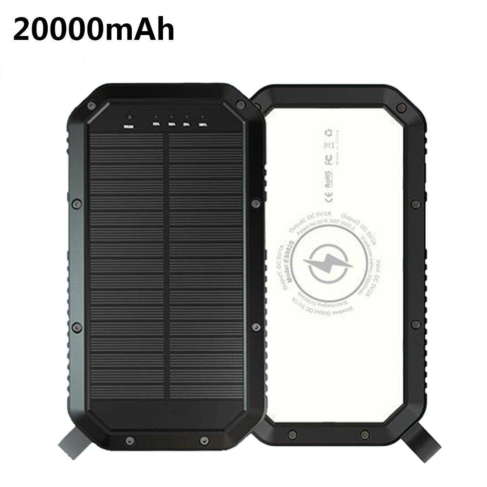 20000mAh Mobile Power Camping Solar Light Outdoor Lamp Charging 36 LED Lights Christmas Decoration IP65 Waterproof