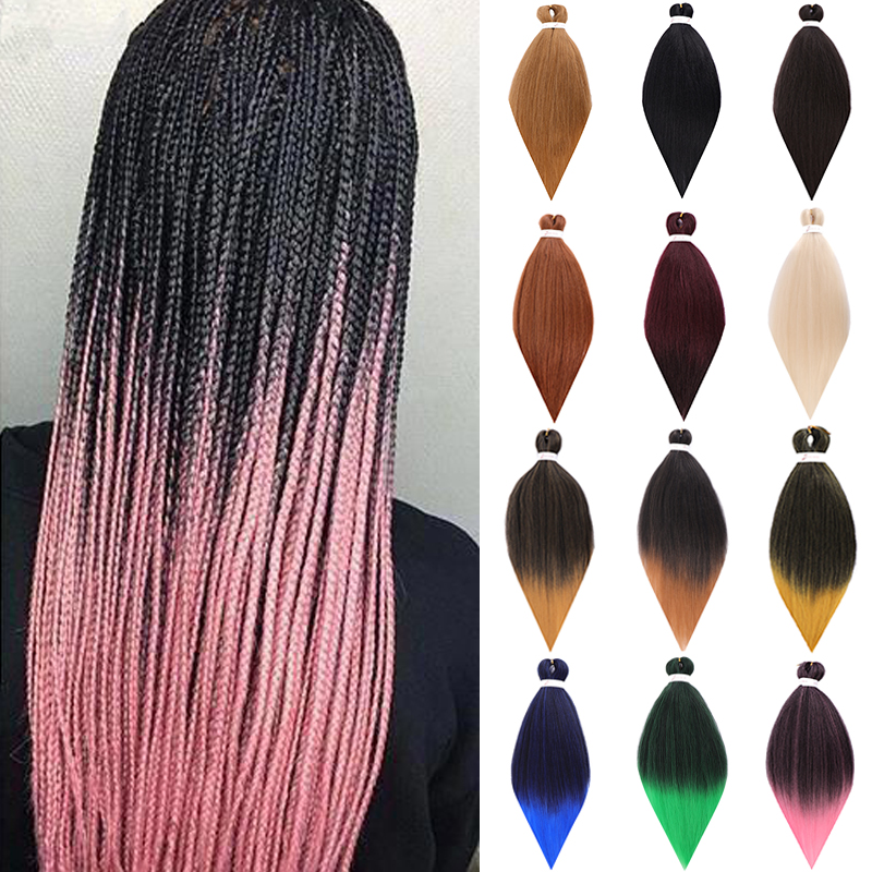 DIANQI Long 26 Inch Crochet African Synthetic Hair Afro Jumbo Braids Hair Ombre Fake Braid Hair For Women
