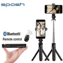 Spash-Palo de selfi 3 en 1, inalámbrico, bluetooth, para todos los phneo, mini trípode plegable, monopié de mano, soporte extensible