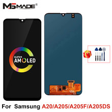 Super AMOLED For Samsung A20 A205 SM-A205F LCD Display Screen Replacement Parts For Samsung Galaxy A20 A205 A205F display(China)