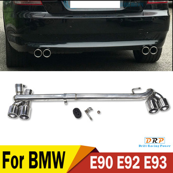 Car exhaust Rear Stainless Steel Exhaust tip muffler tip fit BMW E90 E92 E93 318i 320i 325i in 2006-2012  for original bumper