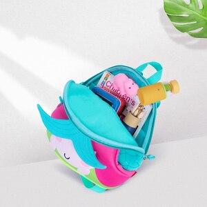 Image 3 - Детский портфель с русалочкой NOHOO, рюкзак с мультяшной картинкой, водонепроницаемый ранец для детсадовцев, школьников, малышей, девочек