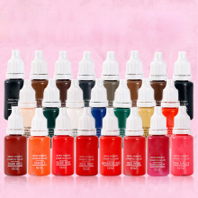 23Pcs Ink Permanent Makeup Pigment 15Ml  23 Color Tattoo Ink Set Paint For Microblading Eyebrow Lip Body Makeup 100pcs ink permanent makeup pigment 15ml cosmetic 23 color tattoo ink set paint for microblading eyebrow lip body makeup