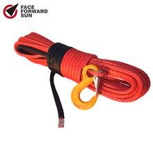 Livraison gratuite corde de treuil synthétique Orange 10mm * 30m, câble de treuil 3/8x100, corde hors route, ligne de treuil ATV