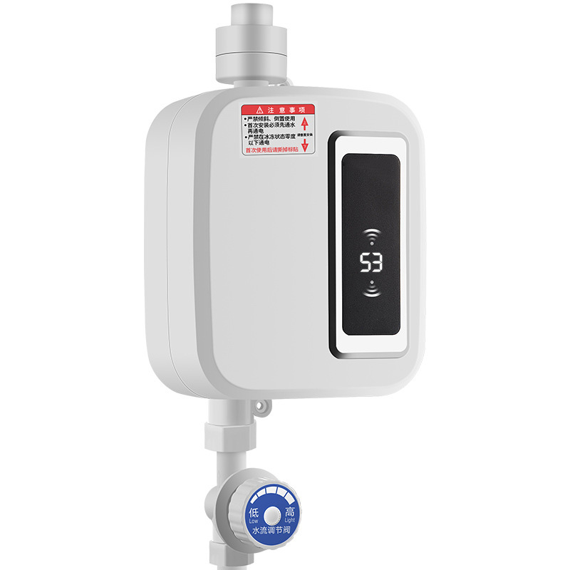 Instant Mini Thermostat Water Heater Mini Thermostat Heater + Shower + Pipe + Bracket + Water Inlet Pipe Fast Water Heater