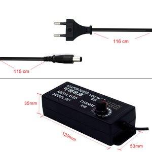 Image 2 - قابل للتعديل محول الطاقة التيار المتناوب إلى تيار مستمر 3 فولت 12 فولت 3 فولت 24 فولت 9 فولت 24 فولت شاشة عرض عالمية الجهد موفر طاقة تنظيمي adatpor 3 12 24 فولت