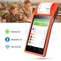 Портативный PDA термальный принтер 58 мм Android 6 0 POS сканер штрих-кода 1D Терминал 3G/4G Wifi Bluetooth NFC опции