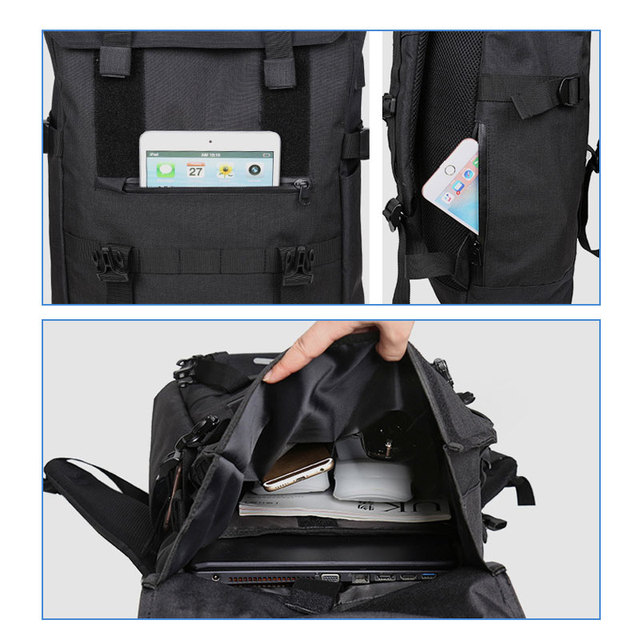OZUKO New 40L Large Capacity Travel Backpacks Men USB Charge Laptop Backpack For Teenagers Multifunction Travel Male School Bag 5