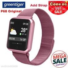 Greentiger P68 Smart Uhr Sport IP68 Wasserdichte Fitness Tracker Herzfrequenz Blutdruck Sauerstoff Smart Uhr Männer VS P80 P70 p90
