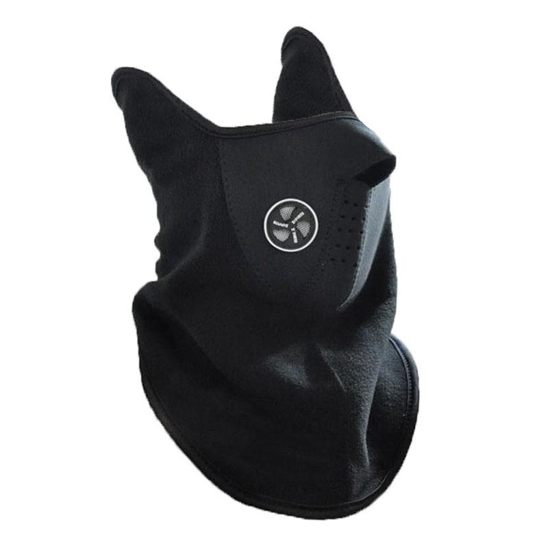 Neck Guard Scarf Fleece Warm Bike Half Face Mask Hood Protec…