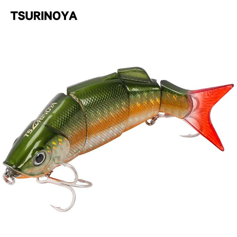 TSURINOYA Jointed Fish Lure DW25 80mm 10g Multi Segment Fish Lures 4 Segment Swimbait Crankbait Fishing Lure Hard Bait Wobblers