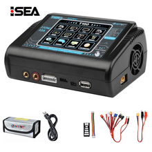 HTRC RC Charger AC/DC 150W 10A T150 Touch Balance Smart Charger Discharger for LiPo LiHV LiFe Lilon NiCd NiMh Pb battery & Bag