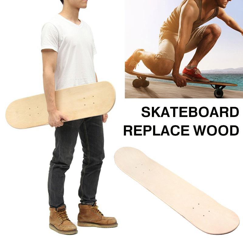 Exercises Sports Double Skate Decks Double Concave Deck Replacement 8 Inch DIY Wood Accessories Outdoor Blank Skateboard Decks