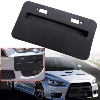 1 Piece Car Front Bumper License Plate Base Frame Relocator For Mitsubishi Lancer GTS EVO X 2008-2018 Bracket