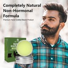 30ml Beard Growth Oil Wax Balm For Men Natural Beard Hair Serum Anti-lossing Hair Balm Oil Wax Grooming S9T3
