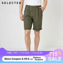 Geselecteerd Mannen Zomer Losse Fit Linnen Knielange Shorts S | 4192SH515(China)