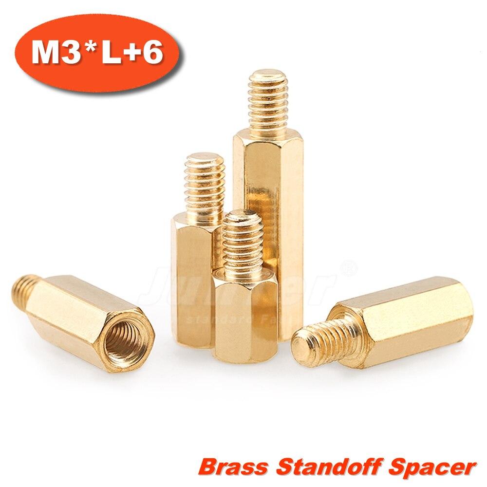 500pcs/lot Brass Standoff Spacer M3*Length Male x M3 Female Thread 6mm