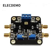 Opa2141 módulo jfet amplificador módulo 10 mhz largura de banda baixo ruído deslocamento baixa temperatura deriva trilho função demo placa