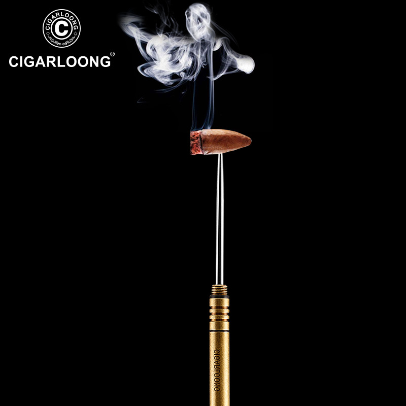 New Arrival CIGARLOONG Cigar Draw Brown Cigar Tool Of Punch Cigar Accessories Cigar Drill CL-Z01