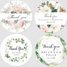 100pcs Thank you Stickers Baking Gift Packaging stationery Handmade Package Envelope Seal Labels For Christmas Gift Decoration