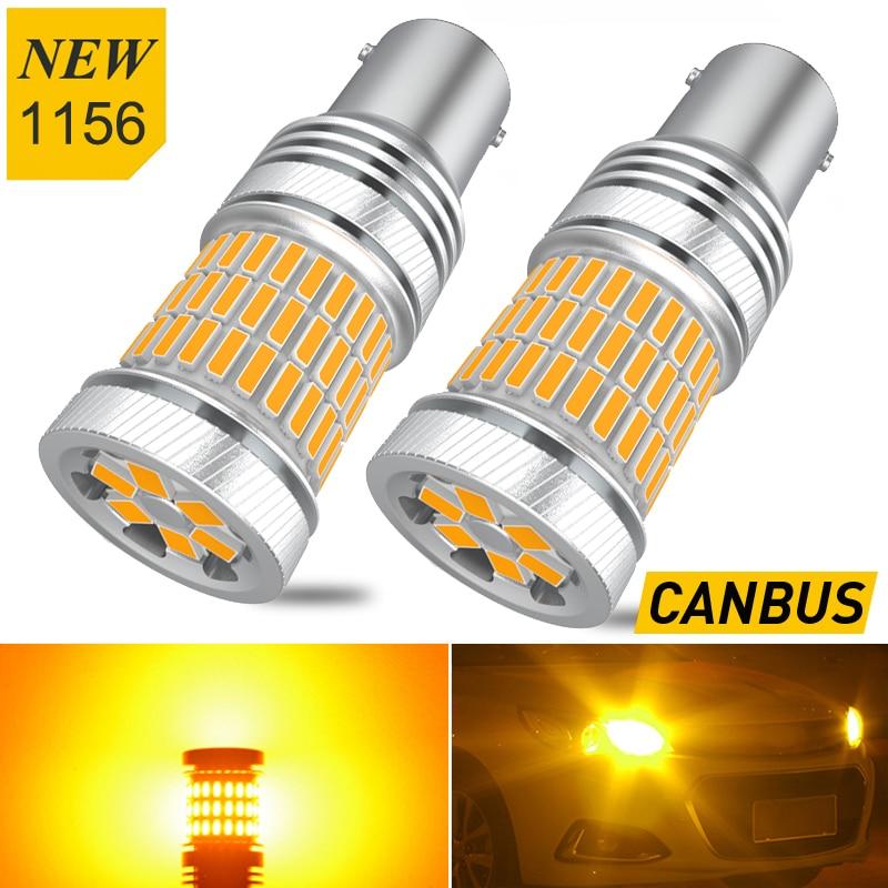 2X Ba15s P21W CANBUS Error Free 1156 LED Car Turn Signal Lamp For Peugeot 206 307 208 308 3008 207 2008 5008 406 508 407 parner