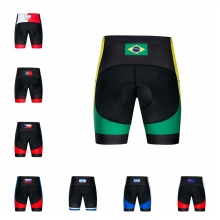 Велосипедные шорты, мужские шорты для горного велосипеда с подкладкой, горная дорога, дно велосипеда, плотное нижнее белье велосипедные гонки, черный, Бразилия, Израиль, США
