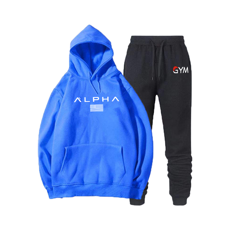 2019 Brand Clothing Men's Casual Sweatshirts Pullover Cotton Men Tracksuit Hoodies Two Piece +Pants Sport Ropa Hombre Sportswear