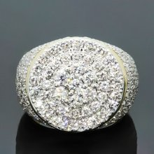 Fashion Round Full Rhinestone micro-inlaid zircon Ring Hip Hop Rock Style Full Bling Cubic Zircon Ring Luxury Jewelry Gifts(China)