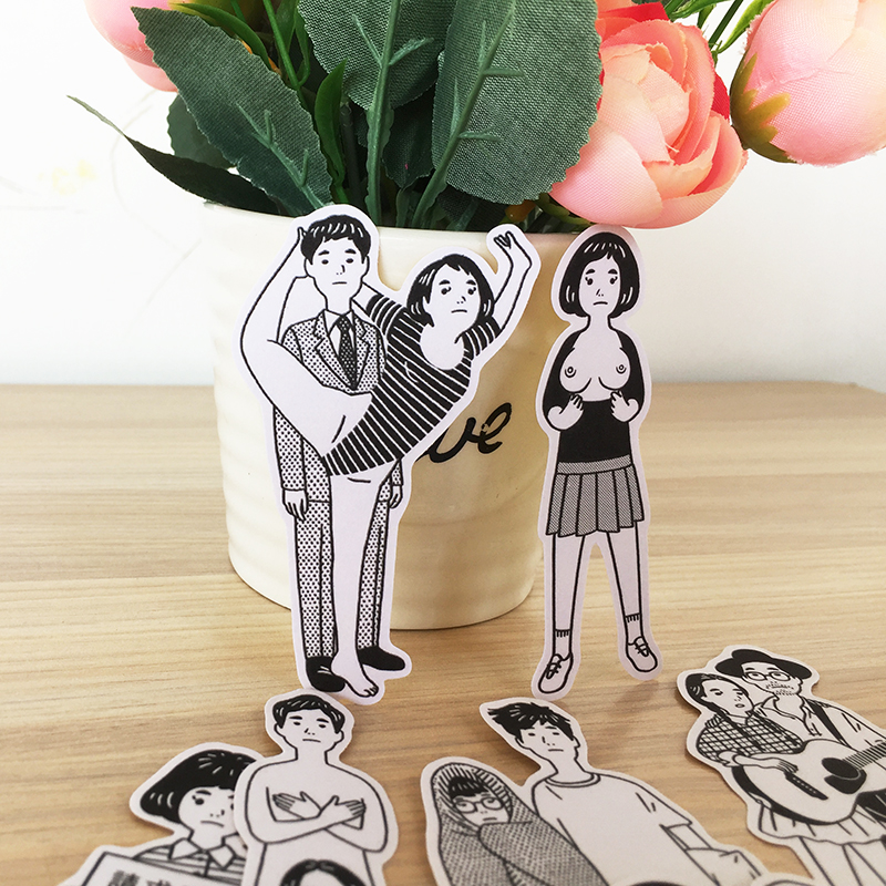 13PCS Strange Youth Stickers Crafts And Scrapbooking Stickers Book Student Label Decorative Sticker Kids Toys